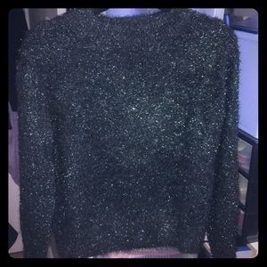 H and m green sweater with sparkle size s/m